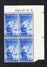 NEW ZEALAND 1958 3d + 1d  LATER RETOUCHES TO R1/20 CP T30b (W) MNH.