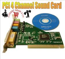 4 Channel C-Media 8738 PCI Audio Stereo Sound Card & Midi Port Win XP/VISTA/7