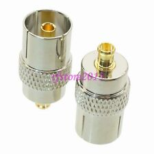 1pce Adapter Connector IEC PAL DVB-T female to MCX male for TV DVB-T Tuner 75ohm