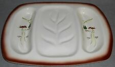 RARE 1950s Brock Pottery HARVEST PATTERN Meat Carving Platter MADE IN CALIFORNIA