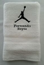 PERSONALIZE - MICHAEL JORDAN SLAM DUNK BASKETBALL NBA BATH OR GYM TOWEL CUSTOM
