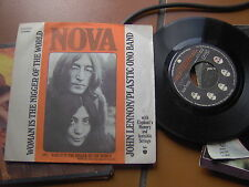 "7""  JOHN LENNON PLASTIC ONO BAND WOMAN IS THE NIGGER OF THE WORLD EX++/EX/EX+"