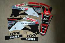 TEAM  INNOVATIVE MX  WHITE YAMAHA  GRAPHICS YZ250F YZ450F YZF450 YZF250  06-09