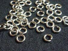 Sterling silver open hard snap jump rings 4mm, 20pcs, 20ga  jewelry findings
