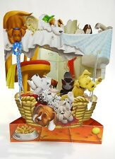 A BASKET FULL OF PUPPIES Greeting Card 3-D  Swing Card by Santoro Graphics 99