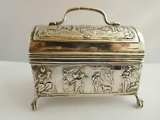 FANTASTIC 19TH CENTURY DUTCH SOLID SILVER TABLE SNUFF CASKET (SCHOONHOVEN)