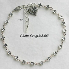 Charm Silver Plated Daisy Chain Flower Anklet Ankle Bracelet beach foot Jewelry
