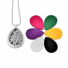 Stainless Steel Aroma Therapy Pendant Extra Discs Tree of Life Tear Drop Jewelry