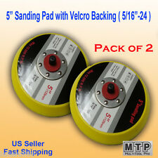 "2x 5"" Hook & Loop Sanding Pad 5/16 24 TPI Thread DA Sander Grinder Polishing Air"