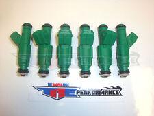Genuine Bosch 42lb Green Giant Fuel Injectors NEW 42 lb/hr Turbo V6 3.8 440cc 6
