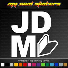 JDM with Wakaba Leaf Vinyl Sticker Decal, Jap Car learner drift race