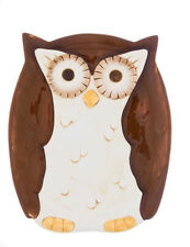 ER22803  Woodsy Owl Snack Plate Kitchen Home Forest Nature Hoot Appetizer plate