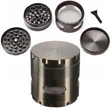 4tlg 55MM Alu Metall Tabak Herb Spice Grinder Magnet Crusher Mühle Kräutermühle