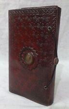10 Vintage Genuine Leather Handmade Blank Paper Journal Notebook Embossed Diary