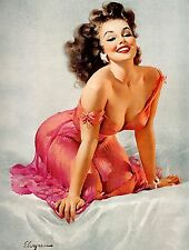 Metal sign vintage Retro style Gil Elvgren sexy pin up girl bedroom wall plaque