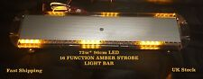 72w LED Amber Strobe Beacon Recovery Vehicle Flashing Orange Warning Light Bar
