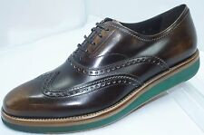 Salvatore Ferragamo Mens Shoes Love Brown Lace Up Oxfords Size 9 Leather NIB