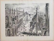 Albert Decaris gravure burin Venise signée numérotée peintre de la Marine