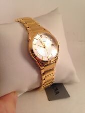 Bulova Quartz Ladies Silver Dial Gold Tone Bracelet Watch 97M103-HJ