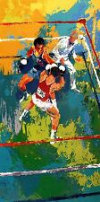"""LEROY NEIMAN BOOK PRINT """"OLYMPIC BOXING"""" USA V. RUSSIA MOSCOW 1980"""