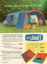Publicité 1969  André JAMET camping tente sac de couchage