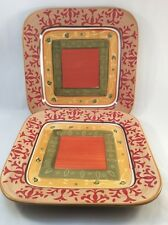 Target Home American Simplicity Villa Set Fo 2 Square Dinner Plates Excellent!