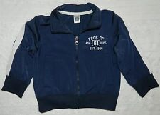 CARTERS boys Navy Blue White TRACK JACKET* 2T 2
