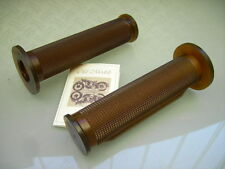 OLD SCHOOL CAFE RACER CLASSIC BRAUNE GRIFFE XS 400 XS 750 HANDLE BAR GRIPS BROWN