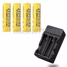4PCS 3.7V NEW 2500mAh 14500 AA Li-ion Rechargeable Battery + Smart Charger