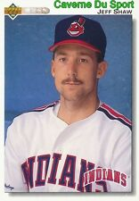 660 JEFF SHAW CLEVELAND INDIANS  BASEBALL CARD UPPER DECK 1992