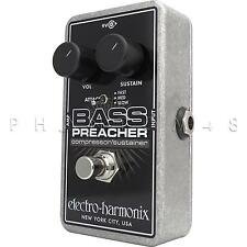 Electro-Harmonix Bass Preacher Compressor/Sustainer Guitar Effects Pedal - NEW