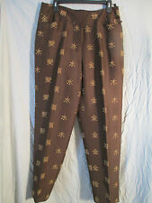 100 % silk pants size 14,by August Silk