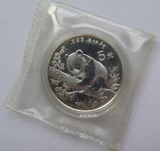 China 1995 Panda Silver Commemorative  Coin 1/2 OZ 5 Yuan Genuine