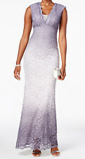 Betsy & Adam New Ombré Glitter Lace Gown Size 4 MSRP $239 #CN 797 (4)
