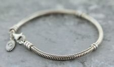 Authentic Pandora 925 Sterling Silver Lobster Clasp Bracelet