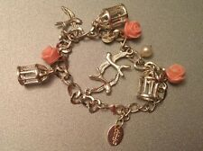 Pretty Claire's Accessories Girls Charm Bracelet Birds Roses Cages