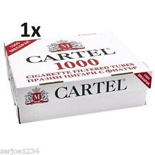 1000 Cartel King Size Make Your Own Empty Cigarette Filter Tubes-New MYO Concept