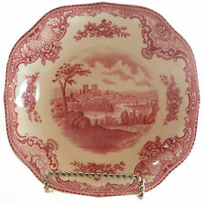 Johnson Brothers Old Britain Castles Soup Bowl Pink Square7 1/8 inches Crown