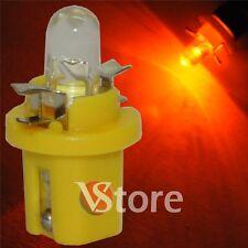 2 LED T5 B8.5D GIALLO Lampade Luci Lampadine Per Cruscotto Quadro Strumenti 12V