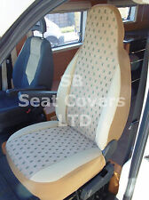 TO FIT A FIAT DUCATO MOTORHOME SEAT COVERS - ELLIE BEIGE MH015 - 2 FRONTS