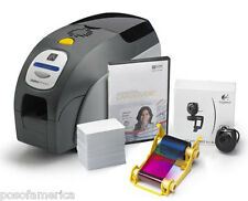 ZEBRA ZXP3 Dual Sided PVC Card Printer Software Ribbon Webcam Cards with MAG NEW