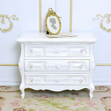 Shabby Cottage Chic Petite 3 Drawer Bombay Nightstand Side End Table Chest
