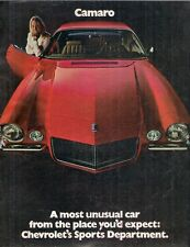 Chevrolet Camaro 1970 USA Market Sales Brochure Rally Sport SS Z28