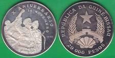 GUINEA BISSAU. 20000 PESOS DE 1990. PLATA 0.900.(2)