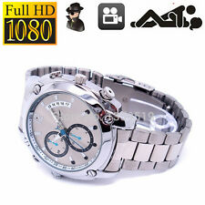 8GB HD 1080P Waterproof IR Night vision DV DVR Spy Hidden Watch Camera Silver WT
