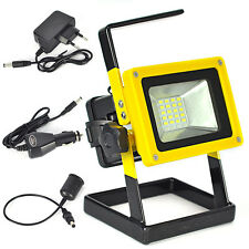 Portable Work Light Rechargeable 24 LED Flood Spot Camping Hiking Lamp Outdoor