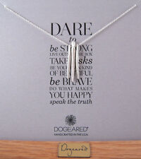 "Dogeared 18"" + 2"" Extender Sterling Silver Dare to... 3 Spears Necklace NEW"