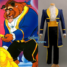 New Beauty and the Beast Prince Adam Cosplay Costume  Any Size