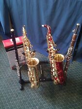 DOUBLE SAXOPHONE STAND + FLUTE & CLARINET PEGS JAMSTANDS-NEW! JS-DS100