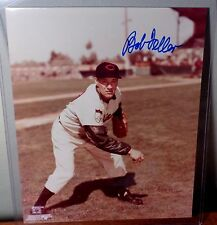 BOB FELLER Cleveland Indians Autographed 8X10 Glossy Photo